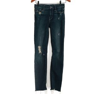 MOTHER Jeans The Looker Ankle Fray Size 24